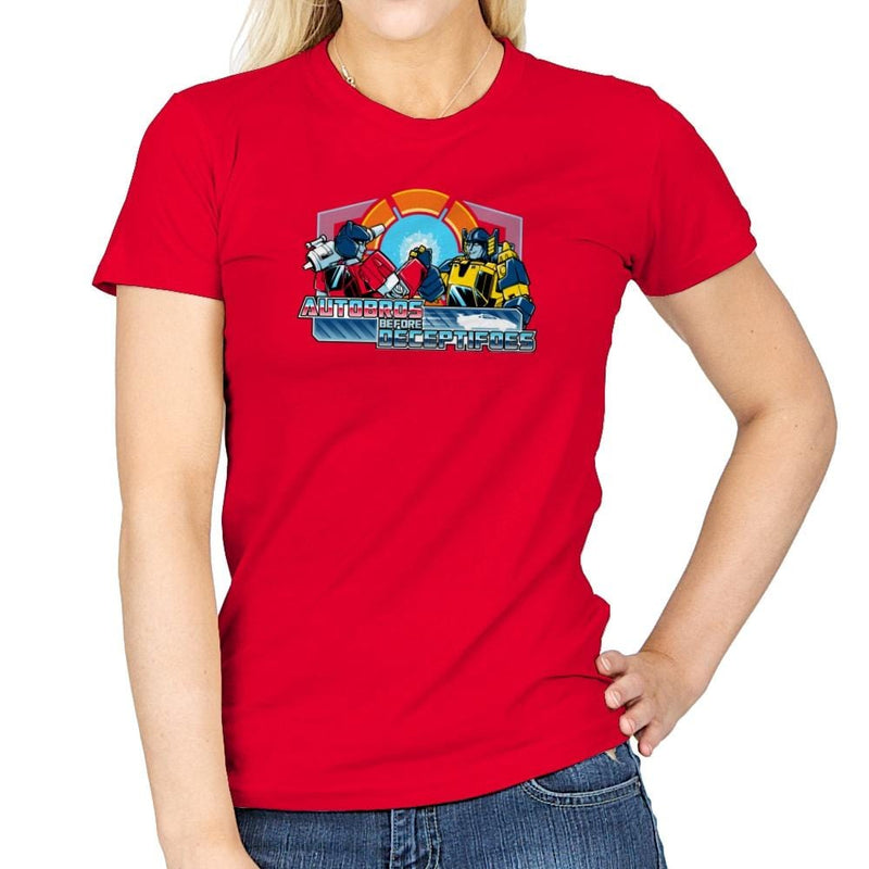 Autobros Before Decepti-foes Exclusive - Womens - T-Shirts - RIPT Apparel