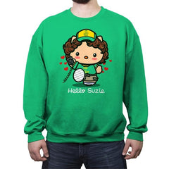 Hello Suzie - Crew Neck Sweatshirt - Crew Neck Sweatshirt - RIPT Apparel