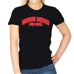 Horror Movies and Chill - Womens - T-Shirts - RIPT Apparel