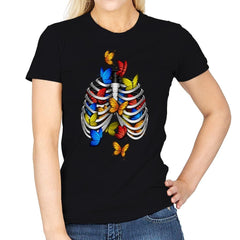 Butterflies In My Stomach - Womens - T-Shirts - RIPT Apparel