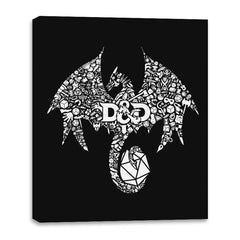 Mosaic Dragon - Canvas Wraps - Canvas Wraps - RIPT Apparel