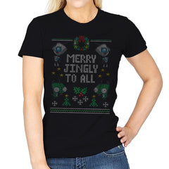Merry Jingly - Ugly Holiday - Womens - T-Shirts - RIPT Apparel