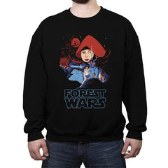 Forest Wars - Crew Neck Sweatshirt - Crew Neck Sweatshirt - RIPT Apparel