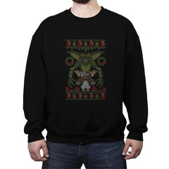 Little Monster - Ugly Holiday - Crew Neck Sweatshirt - Crew Neck Sweatshirt - RIPT Apparel