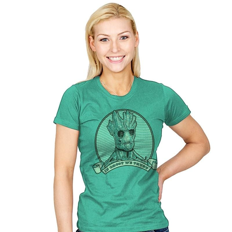 In Groot We Trust - Womens - T-Shirts - RIPT Apparel