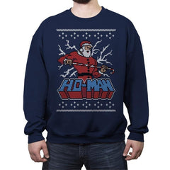 Ho-Man! - Ugly Holiday - Crew Neck Sweatshirt - Crew Neck Sweatshirt - RIPT Apparel