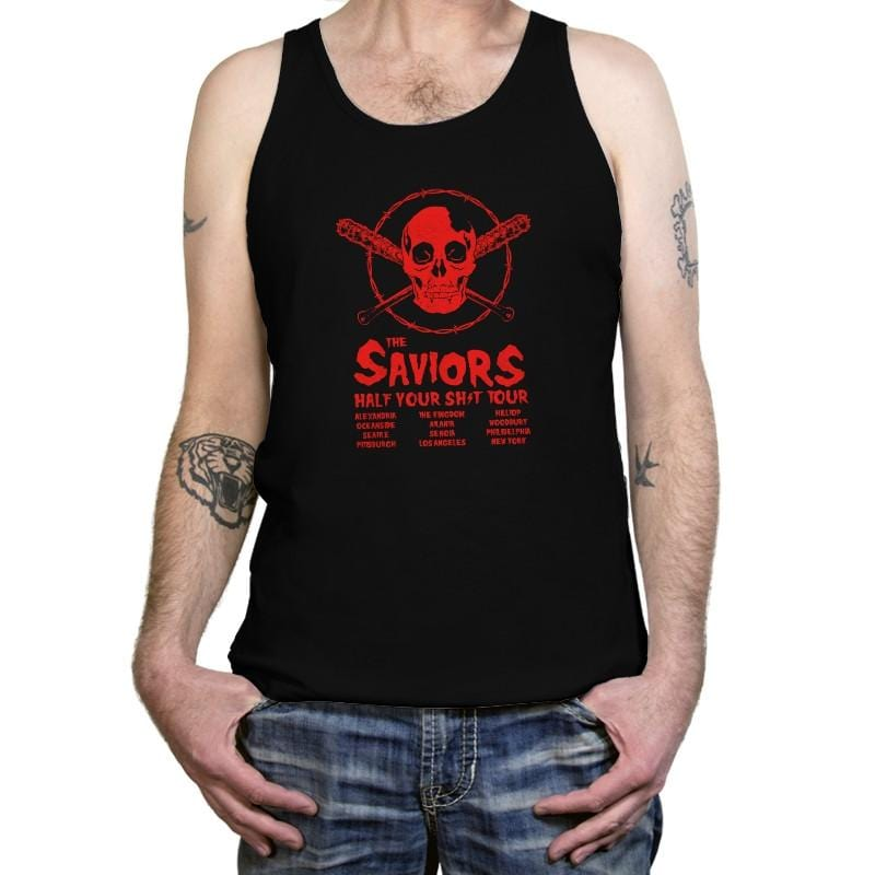 The Saviors: Half Your $#*! Tour - Tanktop - Tanktop - RIPT Apparel