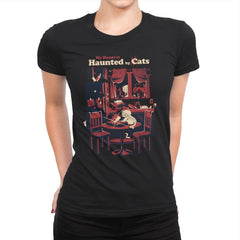 Haunted by Cats - Womens Premium - T-Shirts - RIPT Apparel