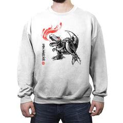 Robot Lizard King - Crew Neck Sweatshirt - Crew Neck Sweatshirt - RIPT Apparel