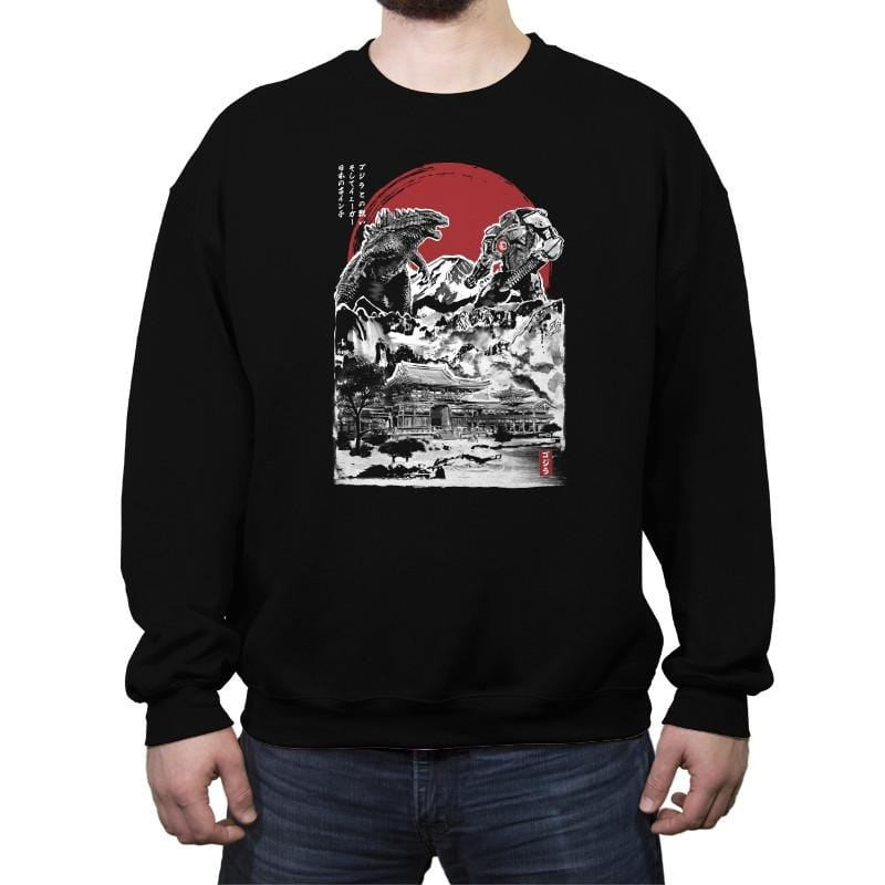 Attack on Japanese Temple - Crew Neck Sweatshirt - Crew Neck Sweatshirt - RIPT Apparel