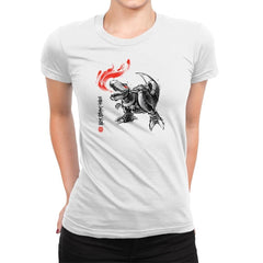 Robot Lizard King Exclusive - Womens Premium - T-Shirts - RIPT Apparel