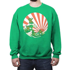 The Great Wave Off Cowabunga - Crew Neck Sweatshirt - Crew Neck Sweatshirt - RIPT Apparel