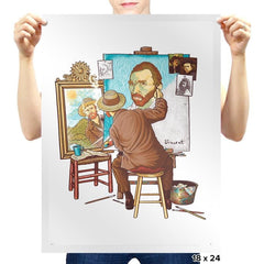 Van Gogh Triple Portrait - Pop Impressionism - Prints - Posters - RIPT Apparel