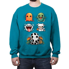 Nerd Ghost - Crew Neck Sweatshirt - Crew Neck Sweatshirt - RIPT Apparel