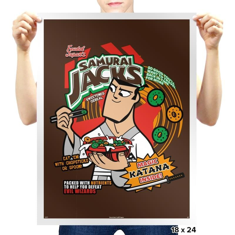 Samurai Cereal - Prints - Posters - RIPT Apparel