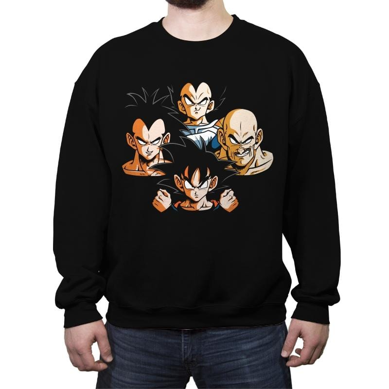 Saiyans Rhapsody - Crew Neck Sweatshirt - Crew Neck Sweatshirt - RIPT Apparel