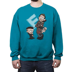 Elliot and Mr. Robbes - Crew Neck Sweatshirt - Crew Neck Sweatshirt - RIPT Apparel