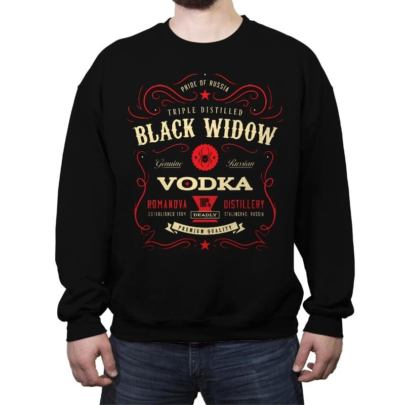 Black Widow Vodka - Crew Neck Sweatshirt - Crew Neck Sweatshirt - RIPT Apparel