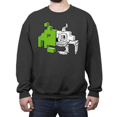 Space Invader Anatomy - Crew Neck Sweatshirt - Crew Neck Sweatshirt - RIPT Apparel