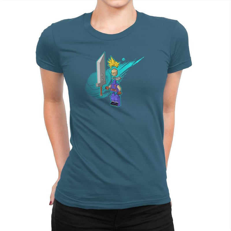 The Blocky Hero of Midgar Exclusive - Womens Premium - T-Shirts - RIPT Apparel