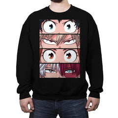 Hero Eyes - Crew Neck Sweatshirt - Crew Neck Sweatshirt - RIPT Apparel
