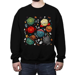Halloween Dice - Crew Neck Sweatshirt - Crew Neck Sweatshirt - RIPT Apparel