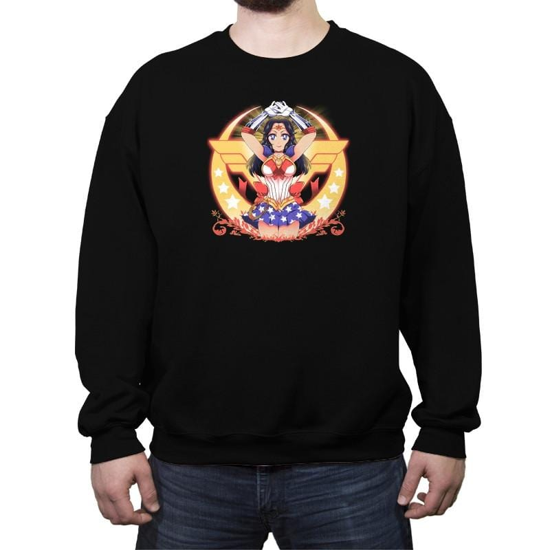 Wonder Moon  - Crew Neck Sweatshirt - Crew Neck Sweatshirt - RIPT Apparel