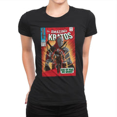 The Amazing Spartan - Womens Premium - T-Shirts - RIPT Apparel