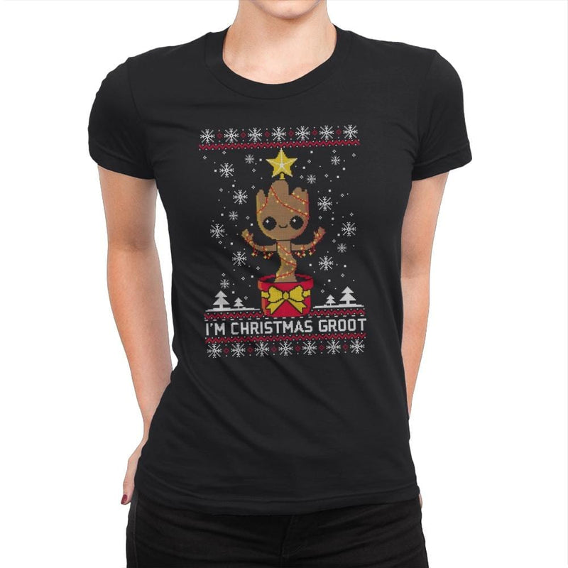 Christmas Tree - Ugly Holiday - Womens Premium - T-Shirts - RIPT Apparel