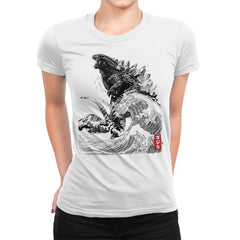 The Rise of Gojira - Womens Premium - T-Shirts - RIPT Apparel