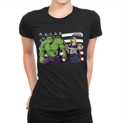 Bombs Over Asgard - Best Seller - Womens Premium - T-Shirts - RIPT Apparel