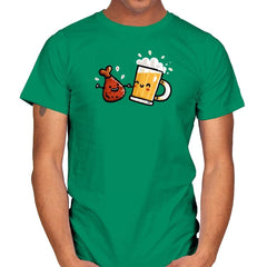 Wings and Beer - Mens - T-Shirts - RIPT Apparel
