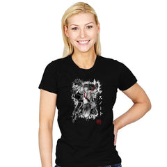 God of the New World - Sumi Ink Wars - Womens - T-Shirts - RIPT Apparel