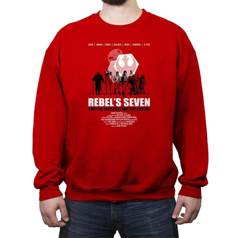 The Rebel's Seven - Crew Neck Sweatshirt - Crew Neck Sweatshirt - RIPT Apparel