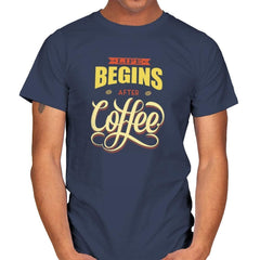 Life Begins After Coffee - Mens - T-Shirts - RIPT Apparel