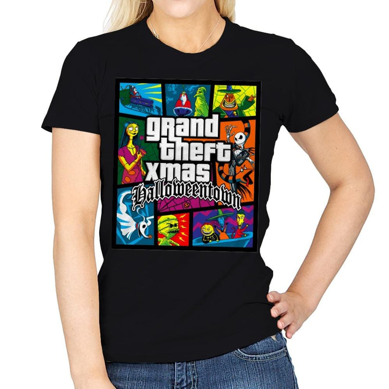 Grand Theft Xmas: Halloweentown - Womens - T-Shirts - RIPT Apparel
