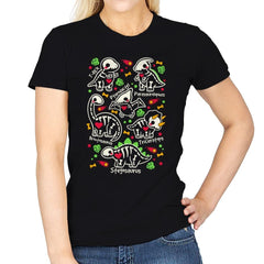 Dinosaurs skeletons - Womens - T-Shirts - RIPT Apparel