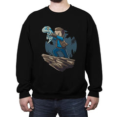 The Raptor King - Crew Neck Sweatshirt - Crew Neck Sweatshirt - RIPT Apparel
