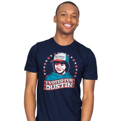 I Voted for Dustin - Mens - T-Shirts - RIPT Apparel
