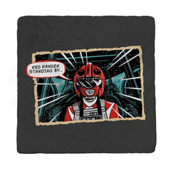 Red Ranger Standing By - Coasters - Coasters - RIPT Apparel