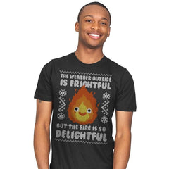 Delightful Fire! - Ugly Holiday - Mens - T-Shirts - RIPT Apparel