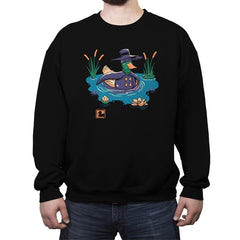 Dark Duck Costume - Crew Neck Sweatshirt - Crew Neck Sweatshirt - RIPT Apparel