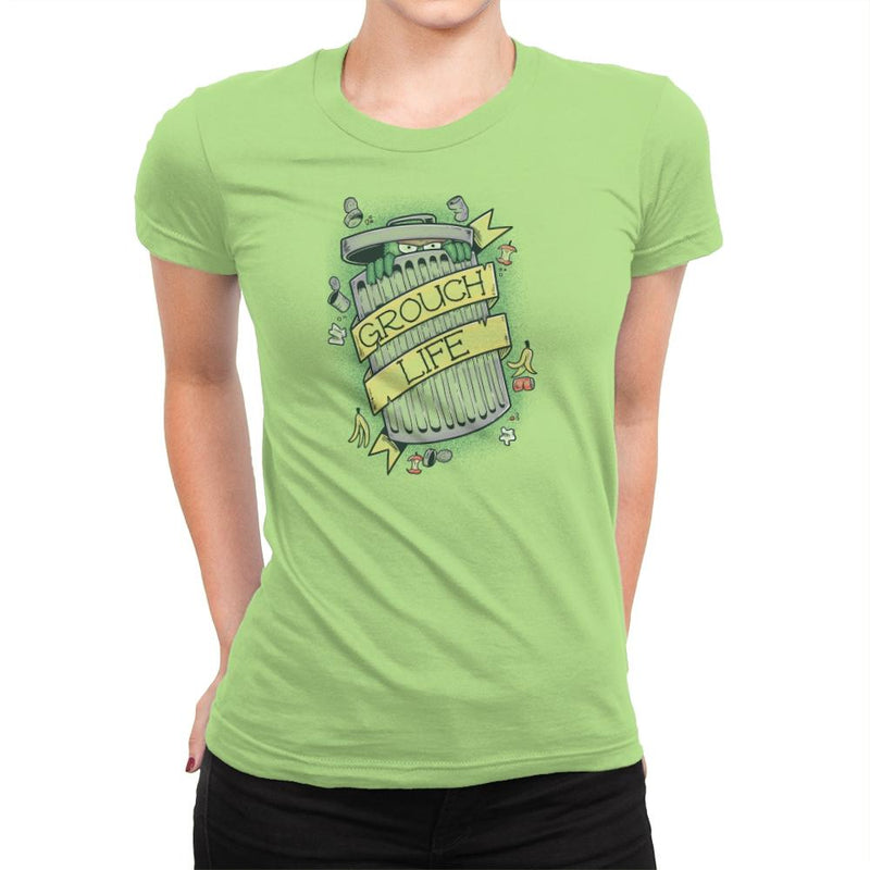 Grouch Life Exclusive - Womens Premium - T-Shirts - RIPT Apparel