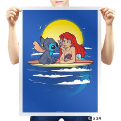 Aloha Mermaid - Prints - Posters - RIPT Apparel