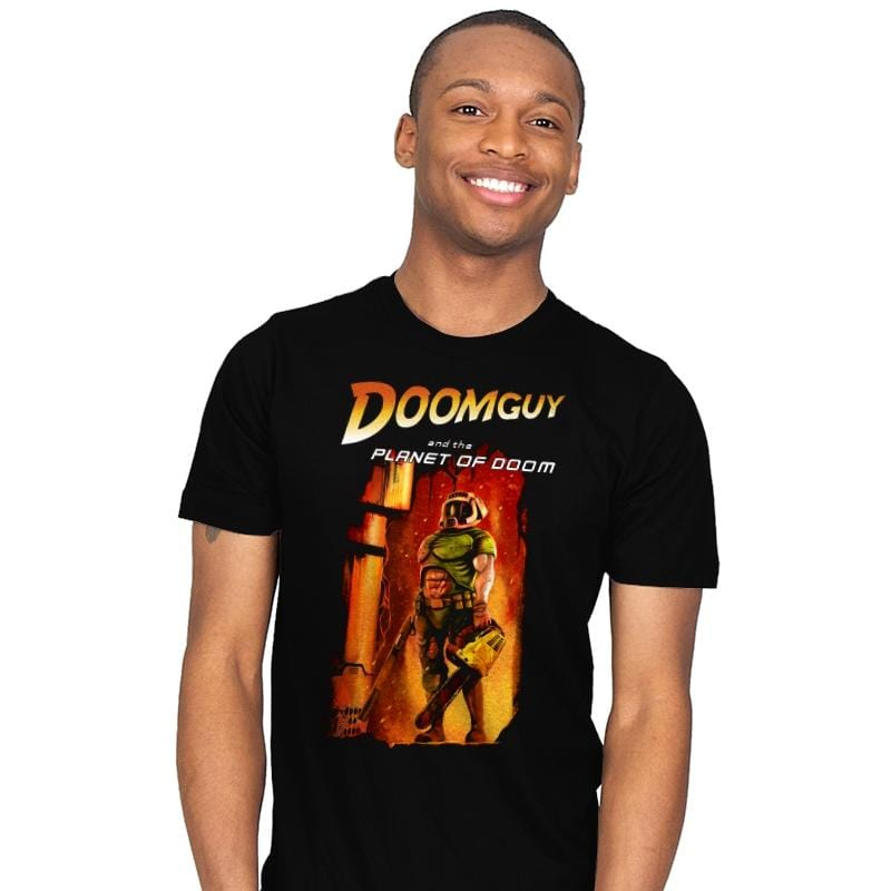 Doomguy and the Planet of Doom - Mens - T-Shirts - RIPT Apparel