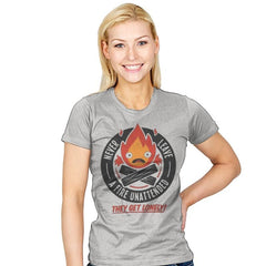 Lonely Fire Demon - Womens - T-Shirts - RIPT Apparel