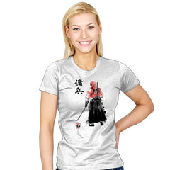 Ronin Mercenary Exclusive - Sumi Ink Wars - Womens - T-Shirts - RIPT Apparel