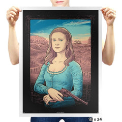 The Mystery of Dolores' Smile - Prints - Posters - RIPT Apparel