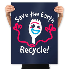 Recycle  - Prints - Posters - RIPT Apparel