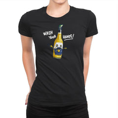 Wash Your Hands - Womens Premium - T-Shirts - RIPT Apparel